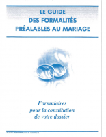 Formalités mariage