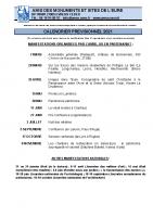AMSE- Calendrier des sorties 2021