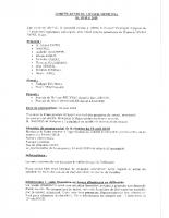 Compte Rendu du Conseil Municipal du 09 mai 2018