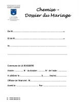 Dossier mariage à compléter