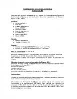 Compte-rendu du Conseil Municipal du 14 avril 2018