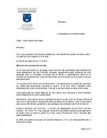 lettre en réponse aux doléances
