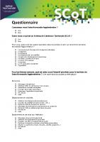 Questionnaire SCoT
