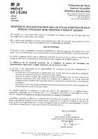 Récépissé mission drone du 8 au 12 février 2021 à la Boissière
